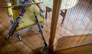 Storstrøms ensemble med harpe og klarinet